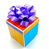 Colorful Gift Box Purple Bow