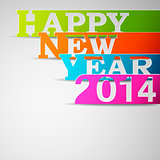 Happy new year 2014 paper strips