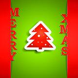 Merry Xmas paper card
