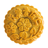 Isolated brown assorted fruits nuts mooncakes