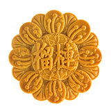 Isolated durian pure lotus paste mooncakes
