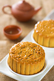 Mooncakes with teaset