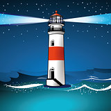 light house and twilight