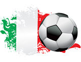 Italy Soccer Grunge Design
