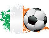Ivory Coast Soccer Grunge Design