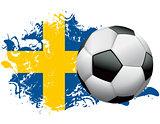 Sweden Soccer Grunge Design