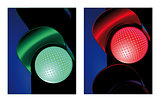 traffic control signal red and green