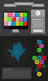 Ui, infographics and web elements including flat design. EPS10 vector illustration.