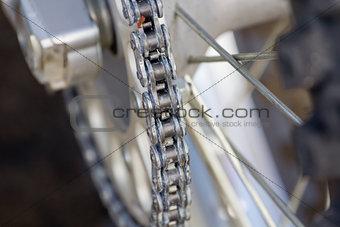 Chain on motocross