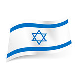 State flag of Israel.