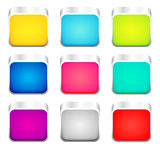 Set of color apps icons