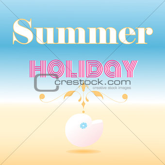 card that says summer holiday