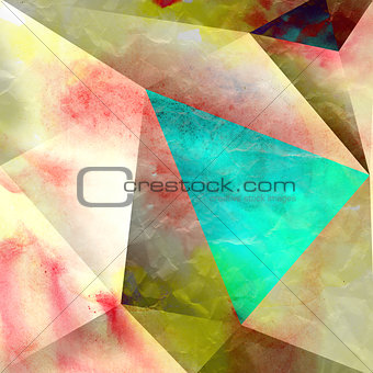 watercolor abstract geometric pattern