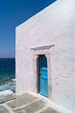 A blue door in Mykonos