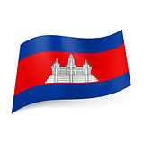 State flag of Cambodia.