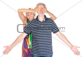Playful middle-aged couple