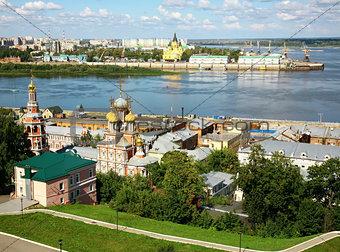 August summer view of scenic Nizhny Novgorod