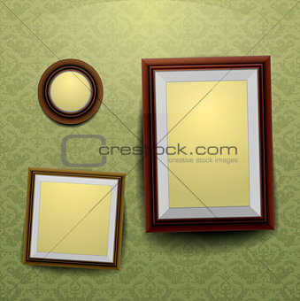 Frames on a wall