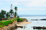 White lighthouse in Galle, Sri Lanka