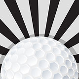 Golf ball icon design