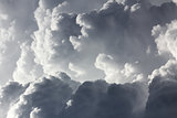 Closeup storm clouds