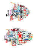 Sport tag cloud