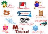 Christmas and New Year holiday greeting card