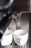 espresso coffe making with professional machine