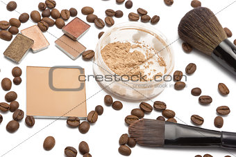 Cosmetics beige shades