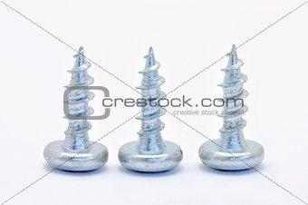 Three steel screw