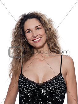 Beautiful Woman Portrait Cheerful smile