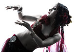 arabic woman belly dancer dancing