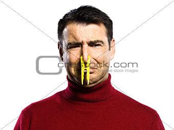 caucasian man unpleasant