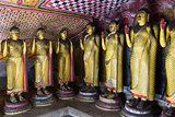 Buddha statues in Dambulla, Sri Lanka