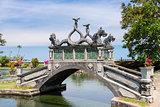Stone balinese style arch bridge