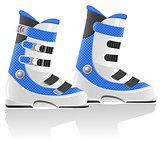 ski boots vector illustration