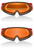 ski goggles vector illustration