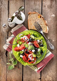 Tasty vegetable salad