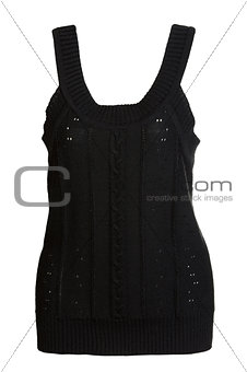 black knitted vest