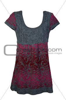 knitted woman's dress
