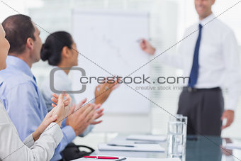 Business people applausing after presentation