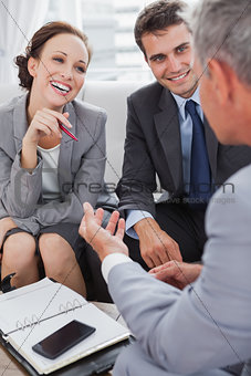Business people arranging an appointment