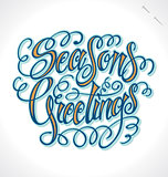 SEASON'S GREETINGS hand lettering (vector)