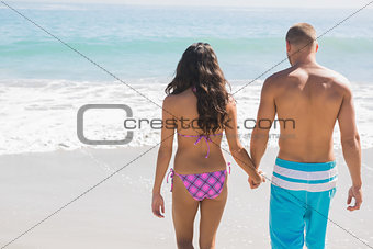 Cute couple having holidays together