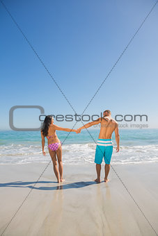 Cute young couple having holidays together