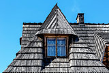 Traditional sloping roof in Zakopane