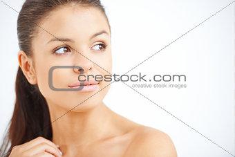 Beautiful pensive young woman
