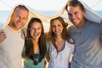 Cheerful group of friends having fun together