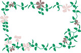 Violet Floral Border