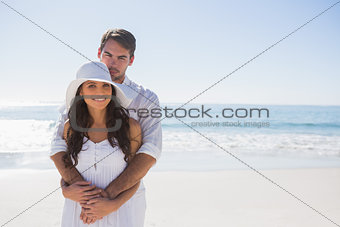 Loving couple smiling at the camera